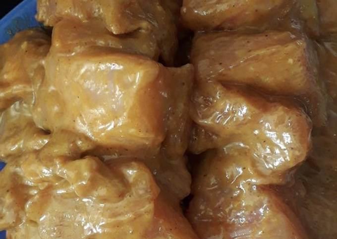 Marinade brochette au poulet beurre de cacahuètes