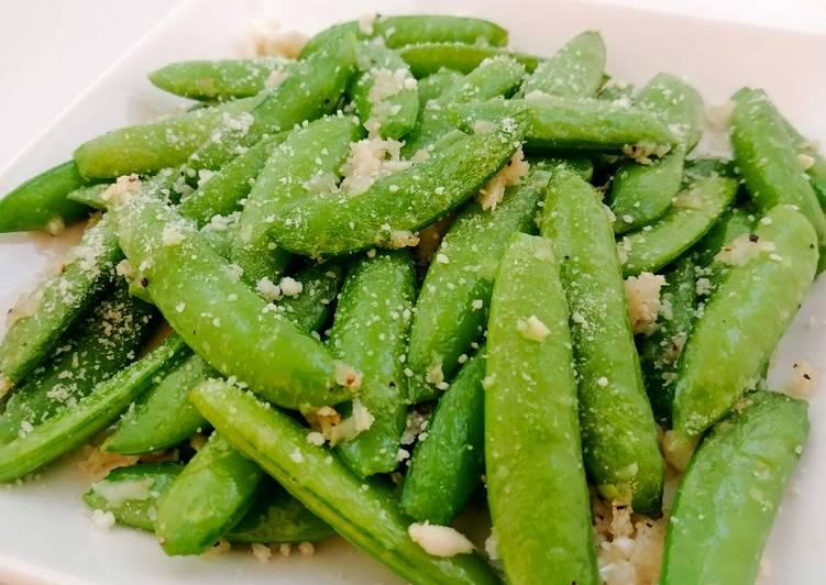 Recipe of Favorite Parmesan Sugar Snap Peas