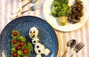 Bento Olaf phong cách giáng sinh