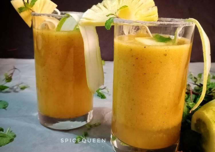 Spicy Pineapple Cucumber Detox Drink