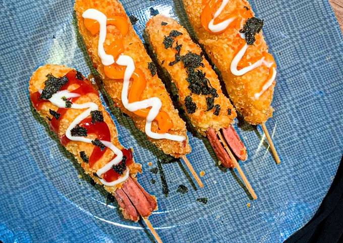 Resep Simple Korean Sausage Hotdog / Corndog (소시지 핫도그)…