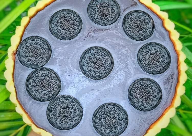 resep cara mengolah Pie Puding Coklat Oreo Teflon