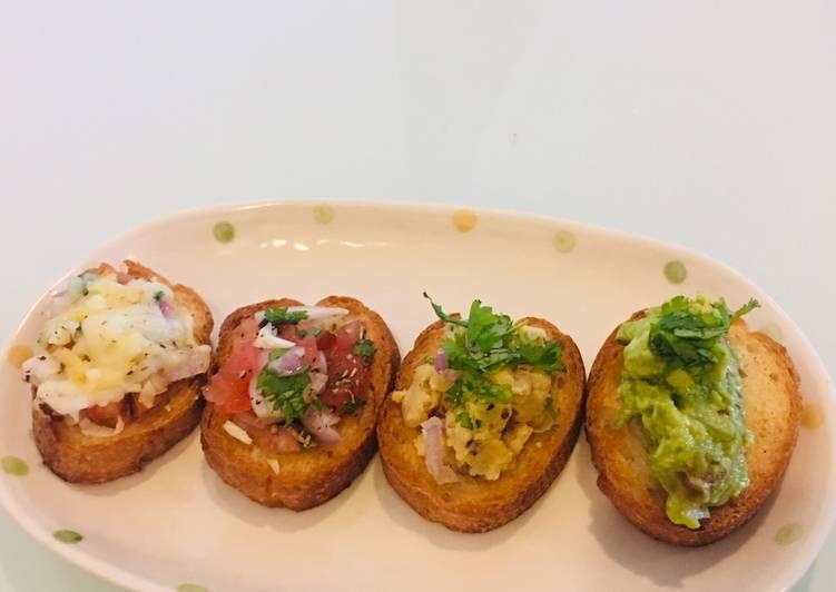 Recipe of Quick Bruschetta Platter
