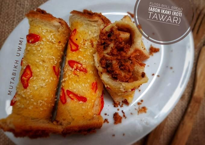 Floss Roll Bread (abon ikan) (roti tawar)