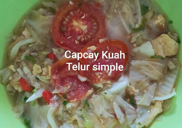 Capcay kuah Telur simple