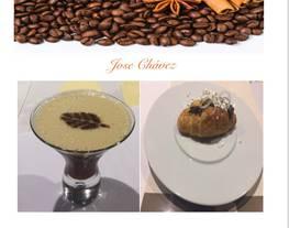 Cóctel espresso Martini y croissant, ternera y polvo de yogurt