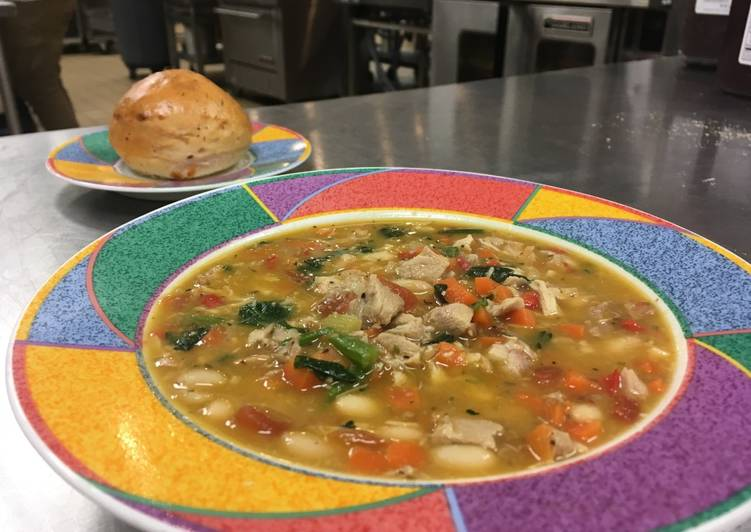 Italian Chicken Vegetable Bean Soup