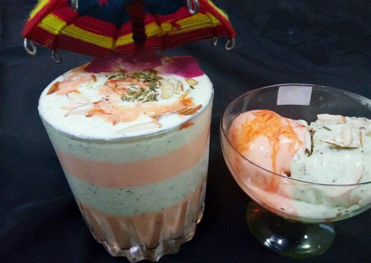 Thandai and rose ice cream