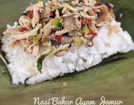 Nasi Bakar Ayam Jamur Kemangi - menu nasi simple