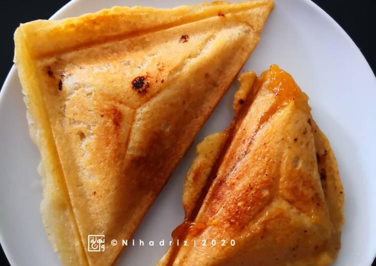 Penkek Poket Tanpa Gluten & Vegan - Menggunakan Sandwich Maker - resepipouler.com