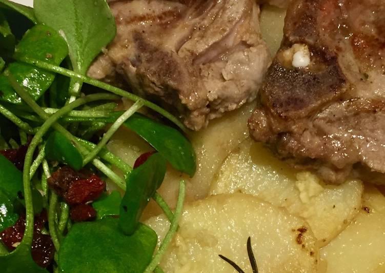 Côtes d'agneau succulentes en gratin