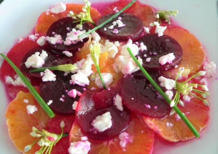 Betteraves, oranges et féta en salade
