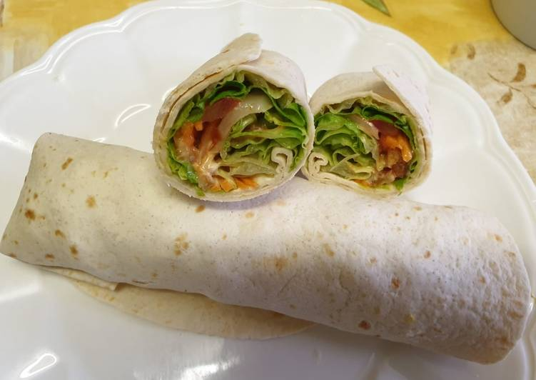 Easiest Way to Prepare Yummy Wrap poulet rapide et facile