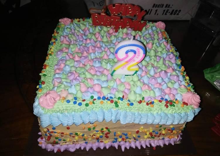 Homemade birthday cake - cookandrecipe.com