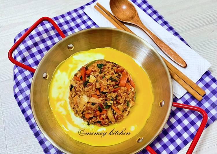김치볶음밥🇰🇷/ Nasi Goreng Kimchi (Super Easy)