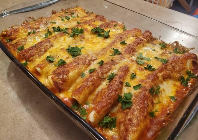Easiest Way to Make Quick Leftover Turkey Enchiladas