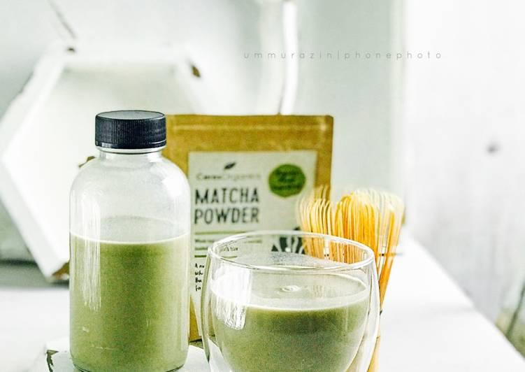 Almond Matcha - resepipouler.com