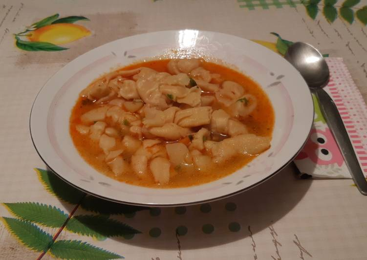 Kötött galuska leves   Kálmán Marianna receptje - Cookpad ...