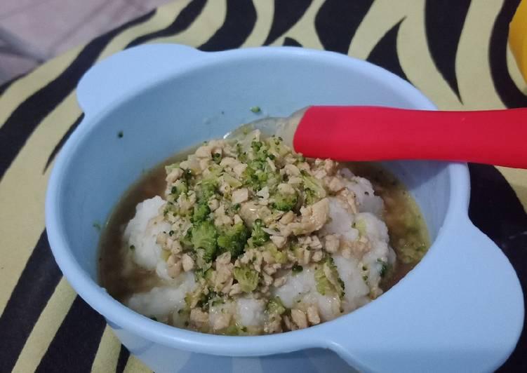 Resep Mpasi 10 Bulan Bubur Ayam Kuah Gurih Oleh Hanna Takiya Cookpad