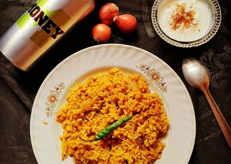 Best Comfort Dinner Easy Spring Chana dal pulao