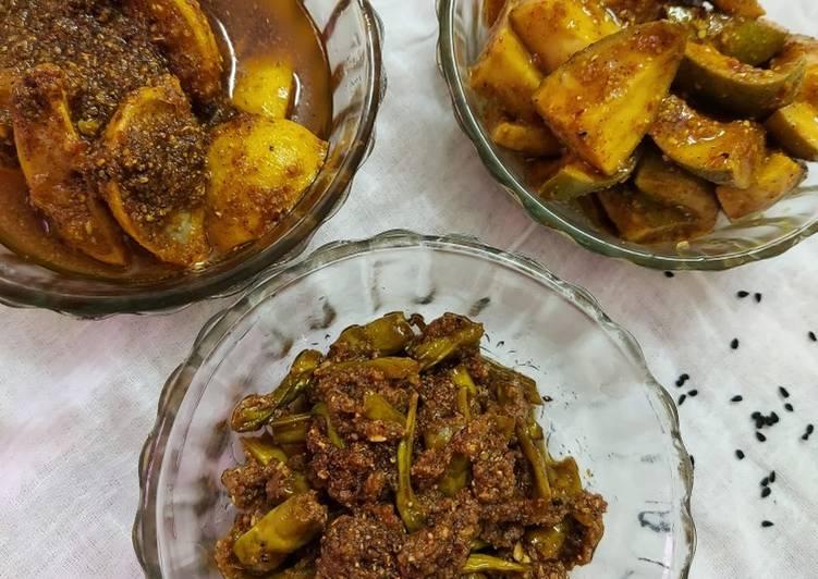 30+ Dinner Ideas Super Quick Homemade Raw mango, lemon and green chilli pickle