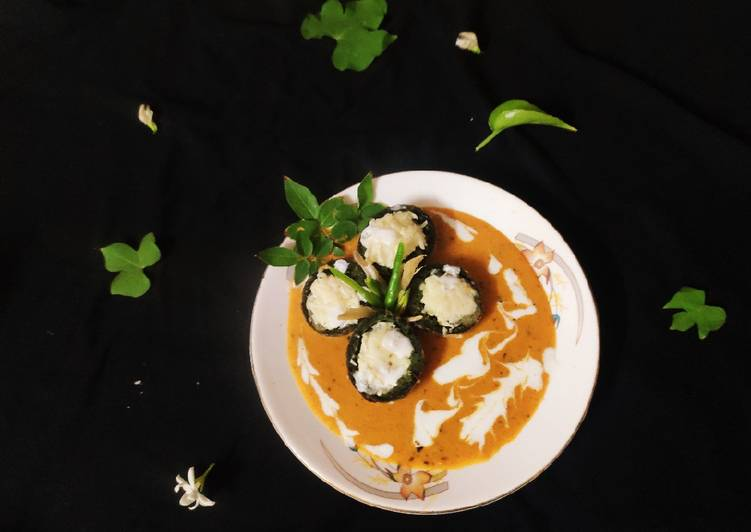 No Fry Palak Paneer Kofta Curry