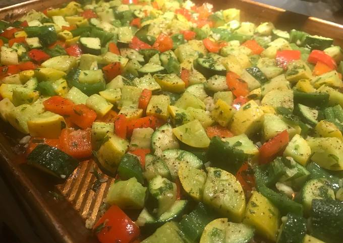 Summer spicy roasted succatosh with tarragon