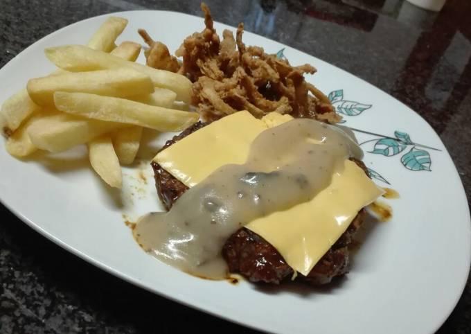 My Take Spur Version mushroom & black pepper Chump Steak