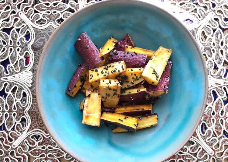 Simple Way to Prepare Award-winning Soy sauce and Honey Fried Sweet Potato