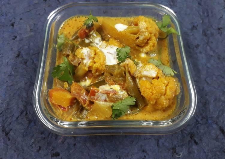 Recipe of Speedy Mix veg curry