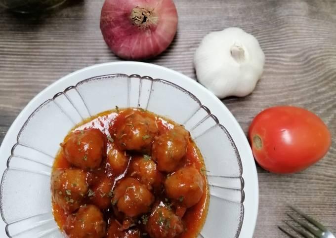 Bebola Daging Sos Tomato