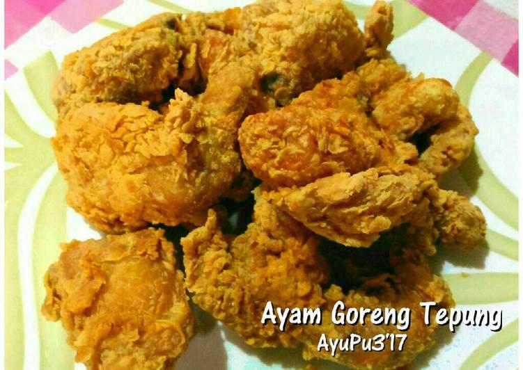 Ayam goreng tepung enakk simpel, mudah bkinx.. recomended