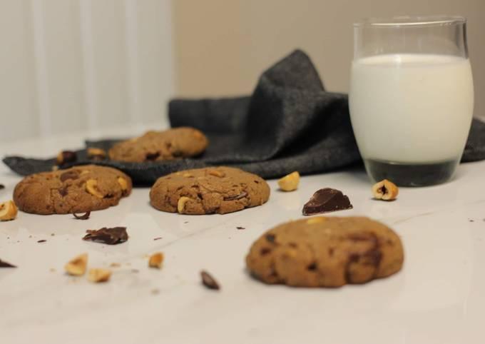 Cookie aux noisettes et chocolat, sans gluten 🍪