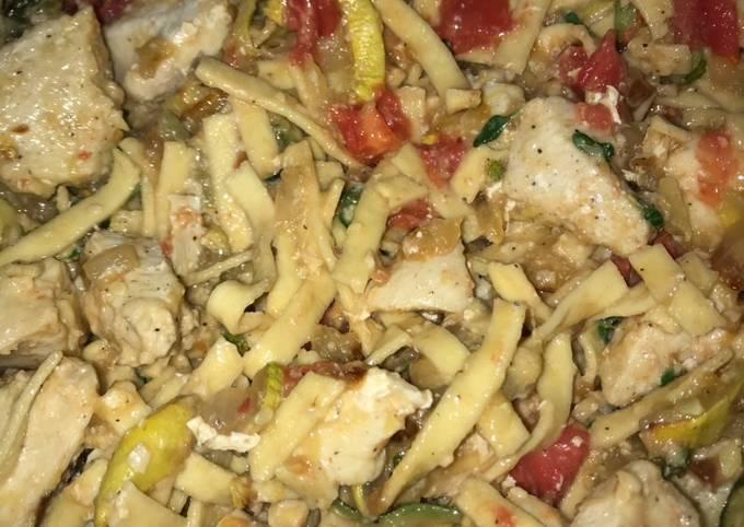Recipe: Appetizing Veggie garden Parmesan chicken and pasta