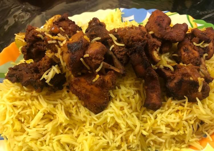 Beginners Guide To Brew Tasty Chicken tikka mandi arabian recepi with saffron rice