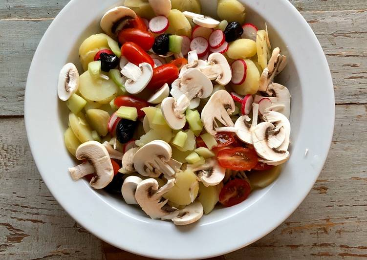 Façon la plus simple Faire Délicieux Salades de pommes de terre Printanière