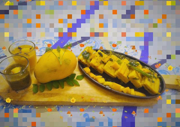 Recipe: Tasty Mango grilled dhokla