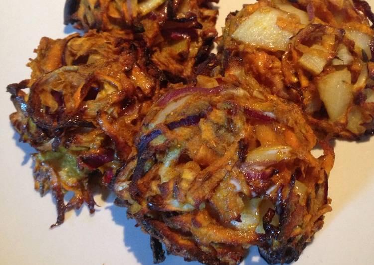 Healthy onion bhaji's