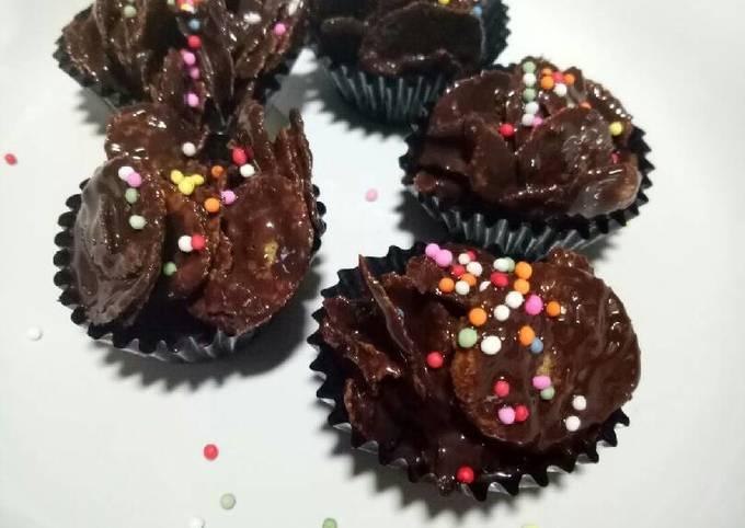 Chocolate cornflakes - coklat emping jagung