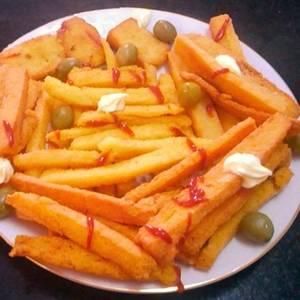 Ricas papas fritas, secas y crocantes, pero sin papas