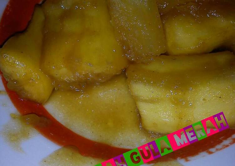 Singkong kuah santan gula merah manis menggoda jiwa raga..