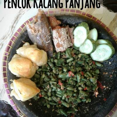 Resep Pencok Kacang Panjang Oleh Anis Qaias Kitchen Cookpad