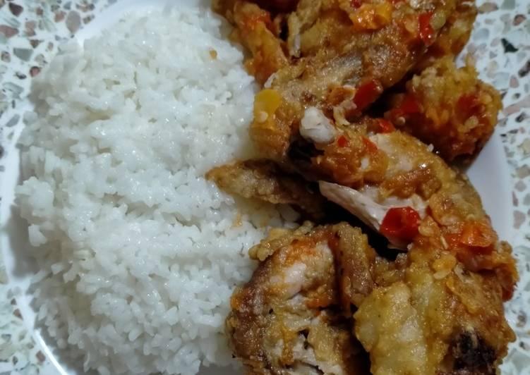 Chicken wing&Shrimp Geprek