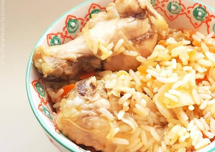 Arroz Con Pollo Y Verduras Salteadas Fácil Y Súper