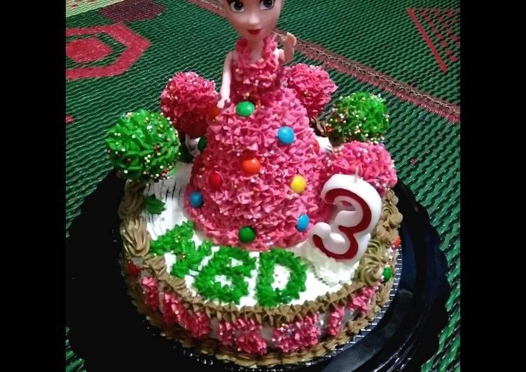 Resep Kue Ultah Barbie Irit Base Cake Brownies Kukus Oleh Fitria Kitchen Cookpad