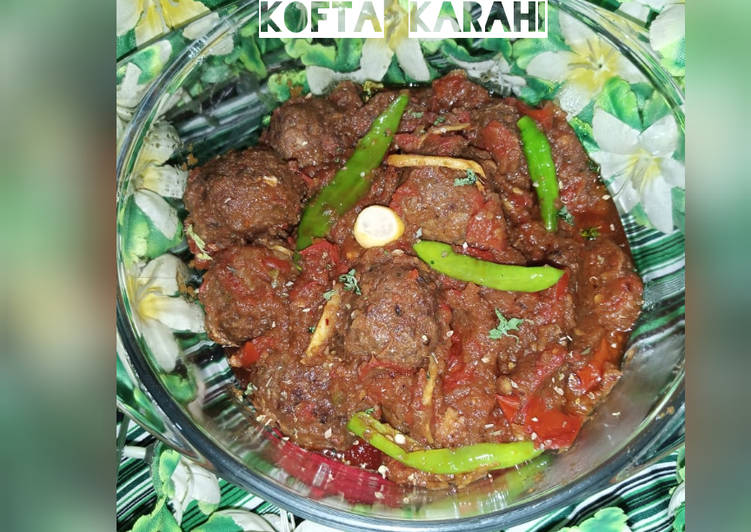 Recipe of Homemade Kofta Koila Karahi