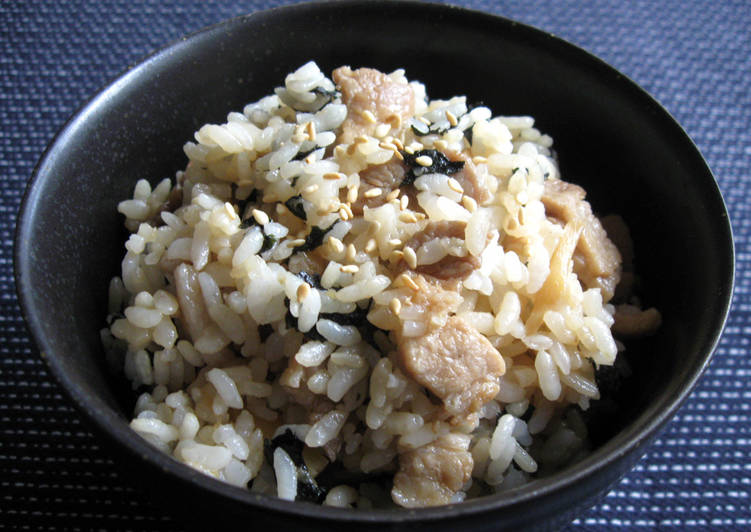Easiest Way to Make Most Popular Pork & Nori Mazegohan