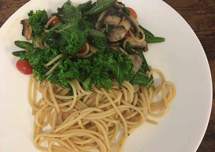 Vegetable Pasta w/ soy sauce