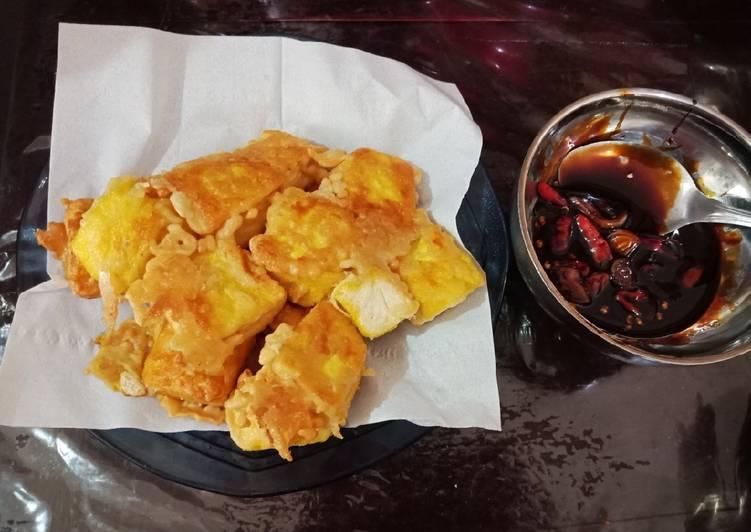 Tahu Kriuk Sambel Kecap (with fiber cream)