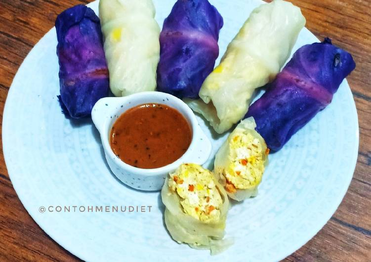 kol-gulung-tuna-tahu-telur-diet-sambel-pecel-healthy-food
